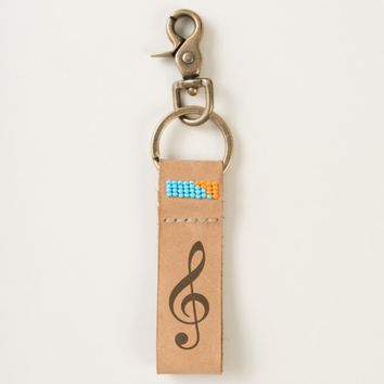 Violin And Bass Clefs and music note funny Keychain