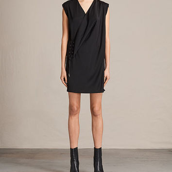 ALLSAINTS US: Womens Jayda Silk Dress (Black)