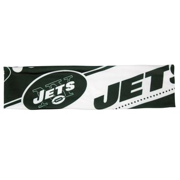 NFL New York Jets Stretch Headband Womens Ladies  NFL Team Apparel
