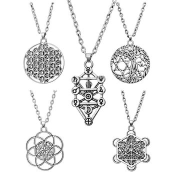 Shop star of life pendant on wanelo tree of life yggdrasil flowers pentacle pentagram pendant wiccan pagan jewelry tibetan silver manstar star of aloadofball Image collections