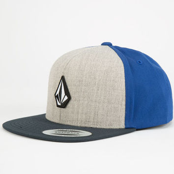 Volcom El Stone Boys Snapback Hat Grey One Size For Women 24777011501
