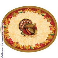 Thanksgiving Blessing Oval Platters (8) - Multi-colored