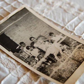 Antique Photo Postcard La Familia Bonita c by BoldSparrowVintage