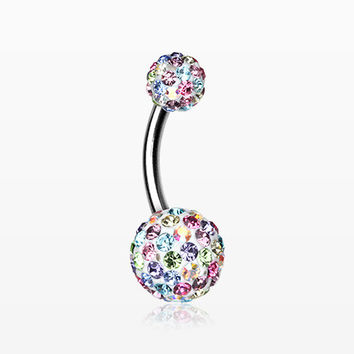 Brilliant Motley Multi-Gem Sparkle Belly Ring