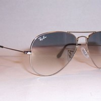 One-nice™ NEW RAY BAN AVIATOR Sunglasses 3025 003/32 SILVER/GRAY 55MM AUTHENTIC