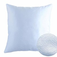 "Cold Light Blue 18"" x 18"" Decorative Solid Satin Square Throw Pillow Cases Cushion Covers Textured for Couch Sofa Bed"