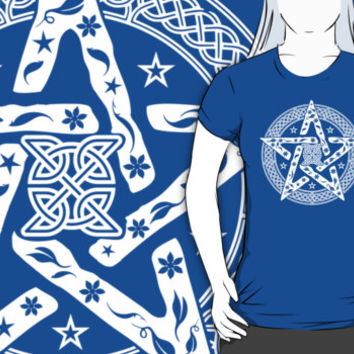 Wiccan Celtic Pentagram T-Shirts and Hoodies. Tee shirts tops clothes clothing wicca pentacle pagan
