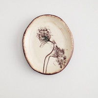 Pressed Queen Annes Lace Ring Dish (no 493)