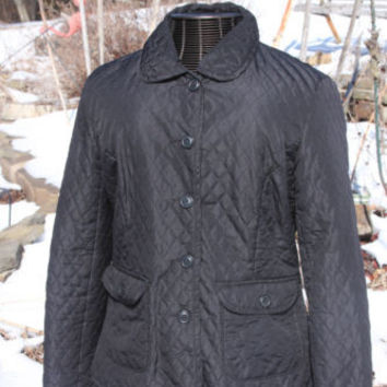 St Johns Bay Black Quilted Jacket Size Large