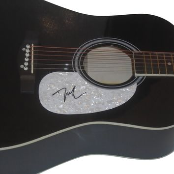 Justin Moore Autographed Full Size 41 Inch Country Music Acoustic Guitar, Proof Photo