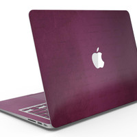 Shades of Burgundy Over Vintage Script - MacBook Air Skin Kit