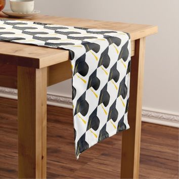 Graduation Cap Short Table Runner