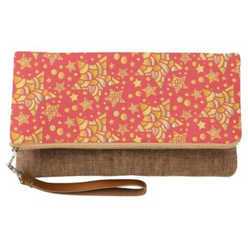 Golden Stars Pattern Clutch