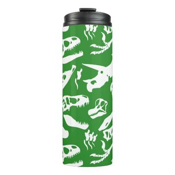 Dinosaur Bones (Green) Thermal Tumbler