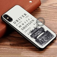 Supernatural Quote Driver Picks the Music iPhone X 8 7 Plus 6s Cases Samsung Galaxy S8 Plus S7 edge NOTE 8 Covers #iphoneX #SamsungS8