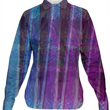 PEAPFP2 Fluorite Lanes Women's Button-down Shirt