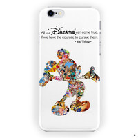 Walt Disney Dreams Quote Mickey Mouse For iPhone 6 / 6 Plus Case