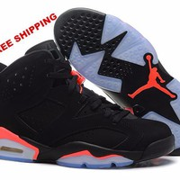 "[FREE SHIPPING] AIR JORDAN 6 (BLACK - OVO - DRAKE) ""Black Infrared"" CODE: 384664-023"