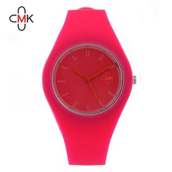 Brand  Fashion Candy Color Silicone Watch Men Women Sports Casual Quartz Watches Lovers Wristwatches Simple 8 Colors Clock