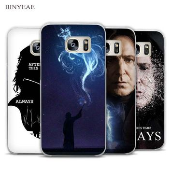 BINYEAE severus snape harry potter Clear Phone Case Cover for Samsung Galaxy Note 2 3 4 5 7 S3 S4 S5 Mini S6 S7 S8 Edge Plus