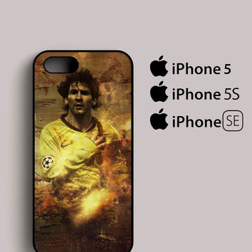 football club barcelona star messi number 10 iPhone 5, 5S, SE Case