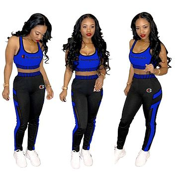 Champion Tide brand women's outdoor sports tight fashion casual two-piece