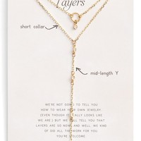 Dogeared Perfect Layers Choker & Y-Necklace | Nordstrom