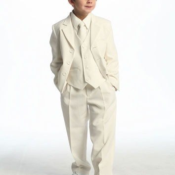 Ivory Plain suit with vest