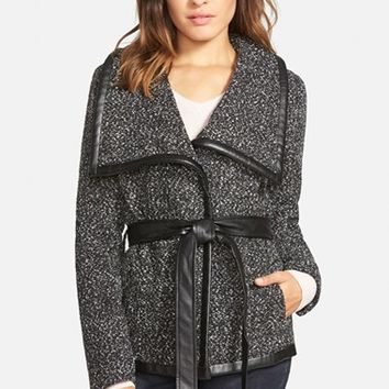 Junior Women's Krush Tweed Wrap Coat ,