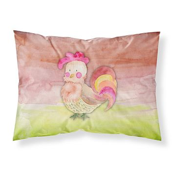 Rooster Watercolor Fabric Standard Pillowcase BB7417PILLOWCASE