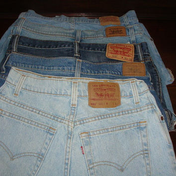 24 hr sale MYSTERY vintage plain LEVI'S cut offs denim high waist shorts women ALL sizes 19.99 dollars cheap