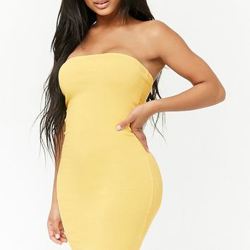 Ribbed Tube Mini Dress