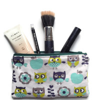 Owl Pencil Case, Owls Cosmetic Case, Kids EpiPen Case, Kids Pencil Bag, Small Cloth Wallet