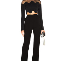 David Koma High Waist Trousers in Black | FWRD