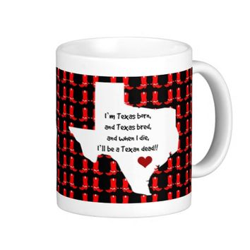 Cute Texas Pride Mug, State Map/Cowboy Boots