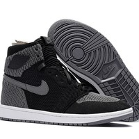 Air Jordan 1 Retro AJ1 Flyknit Shadow 40--47