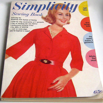 Vintage Magazine, Simplicity Sewing Book, 1960s Magazine, '60s Sewing Reference Book, 60s Fashions, Dressmaker Book, Sewing Supplies