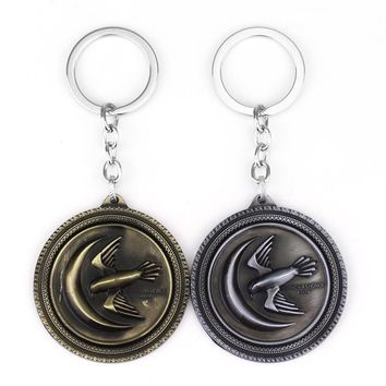 Game Of Thrones House Arryn Keychain A Song Of Ice And Fire New Eagle Logo Keyring Pendant For Women Men Car Accessories