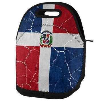 PEAPGQ9 Distressed Dominican Republic Flag Lunch Tote Bag