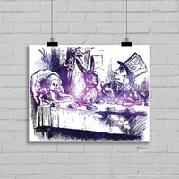 Alice in Wonderland Galaxy Art Print - Home Decor - Dorm Decor - Office Decor