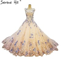 Sleeveless Colored Wedding Dresses Butterfly Pearls Luxury Train Bridal Dress