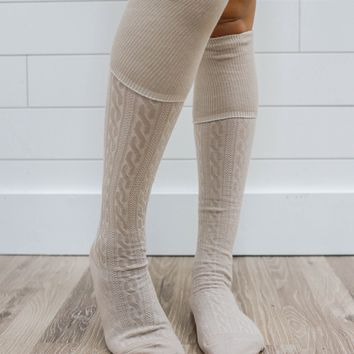 Polar Over The Knee Socks