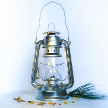 Set of 12 Limited offer for Europe/ Silver Ombre Oil Hanging Lantern/ Hurricane Lamp/ Rustic Lamp/ Wedding Lighting