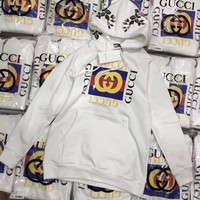 ''Gucci'' Women Embroidery flowers Hot Hoodie Cute Sweater