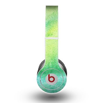 The Vibrant Green Watercolor Panel Skin for the Beats by Dre Original Solo-Solo HD Headphones