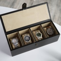 Big Watch Box in Soft Leather - 12.25W x 3.5H in. | www.hayneedle.com
