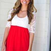 She's So Rosy Dress: Bright Red | Hope's