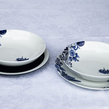 Rapsodia - Blu4 4-Piece China Dinner Set for 2