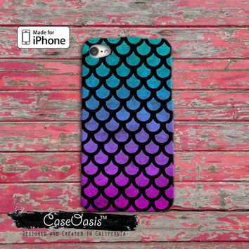 Mermaid Scales Pattern Cute Purple Blue Ombre Tumblr Custom iPhone 4 and 4s Case and iPhone 5 and 5s and 5c Case iPhone 6 and iPhone 6 Plus