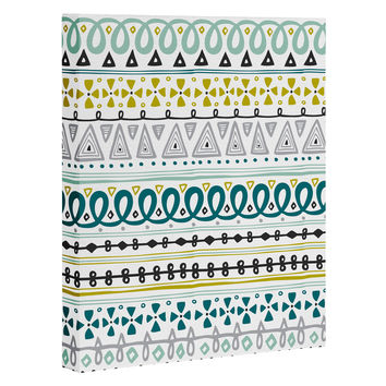 Heather Dutton Boho Market Stripe Art Canvas